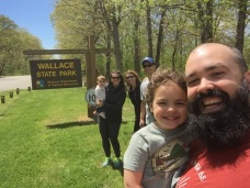 Checking out Wallace State Park with some of our friends in Kansas City